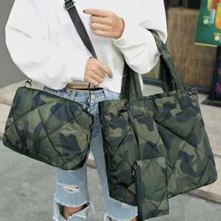 PO 3 Pieces Quilted Bag Set