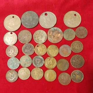 香港 英女皇 佐治六世 硬幣57個