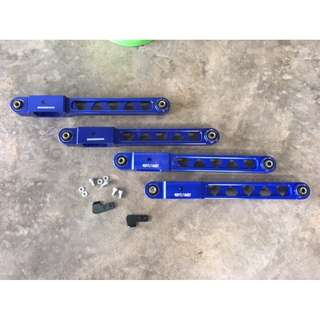 TOMEI   ~~    Wira, Satria, Putra, Gen2, Persona, Waja & Neo        rear lower arm Triangle Holes  BLUE  Color  model  * 33032
