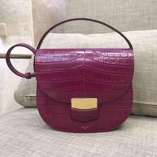 CELINE 高品質原廠皮紫色包