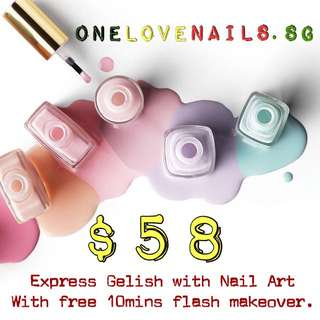 Gelish with Nails Art