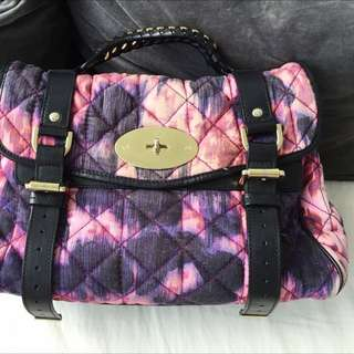 Mulberry Alexa Loopy Leopard Quilted Denim