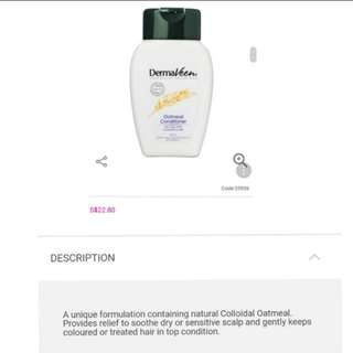 😍$9.95 CRAZY SALE!! Dermaveen Oatmeal Hair Conditioner 250ML ♦️FULL SIZE 🤗EXPIRES 2019