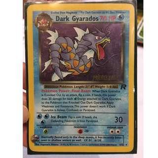 Pre release DARK GYARADOS -  Brand New Pokémon card