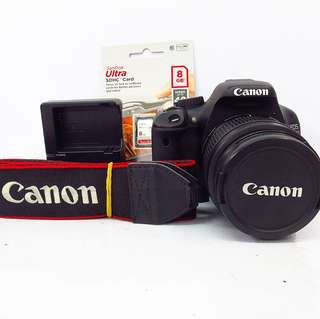 Canon EOS 550D with 18-55mm kitlens