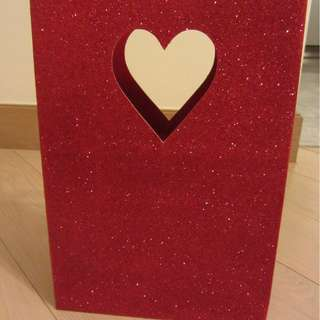 Papyrus Red Glitter Gift Bag