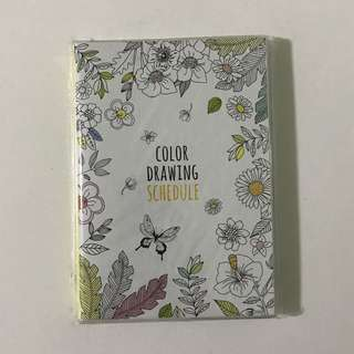 Diary Schedule Journal (Colour Drawing Schedule)
