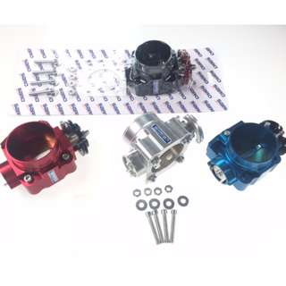 SARD   Version2 throttle body 70mm Evo123,VR4, 4G91,  4G92 & 4G93 BLACK BODY /RED pulley  color model 39919