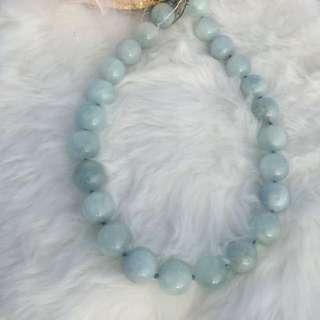 純天然海藍寶圓珠