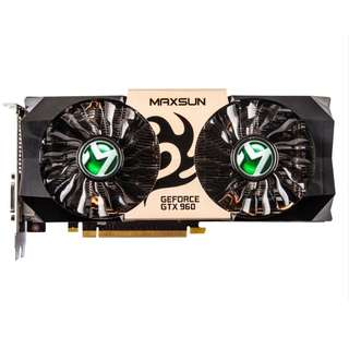 (二手) 90%NEW 銘瑄MAXSUN MS-GTX960 2G Graphics Card 2GB GDDR5