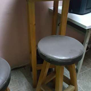 bar chairs and tables