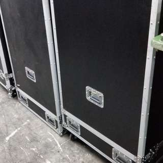 Flight Case  Length 77 Cm Width 77 Cm Height 133 CM With Castor Wheel 120 CM Without  No Compartment Inside  No Dividers inside  Balance 18 Blk1026 TaiSeng Ave