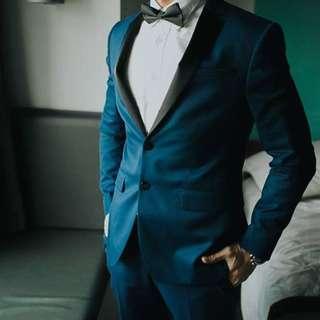 Zara blue terno suit