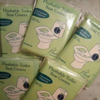 * Free Postage * Flushable Toilet Seat Covers