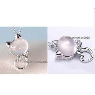 Rose Quartz Stone in 925 silver plating