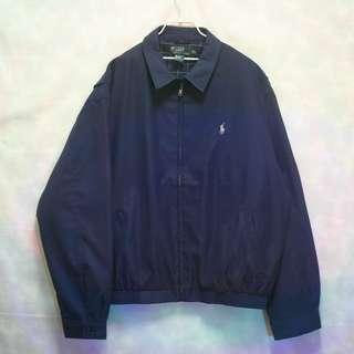 三件7折🎊 Ralph Lauren Polo 夾克 外套 海軍藍 磨毛布 卡其小馬 極稀有 老品 古著