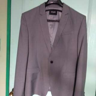 Grey Men's Formal Coat / Blazer