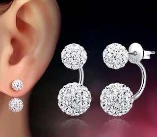 Double Ball Stud Earrings