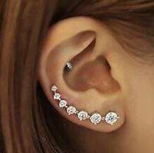 High Quality Zircon 925 Sterling Silver Stud Earring