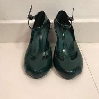 Vivienne Westwood X melissa 墨綠色高跟鞋