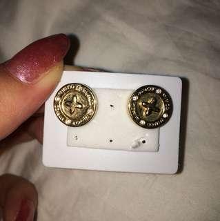 Gold Mimco stud earrings