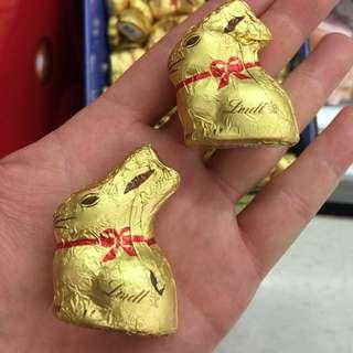 5個 復活節 Lindt 小金兔巧克力 10g