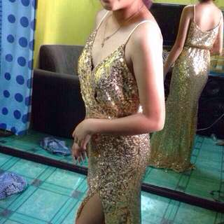 gold gown for rent