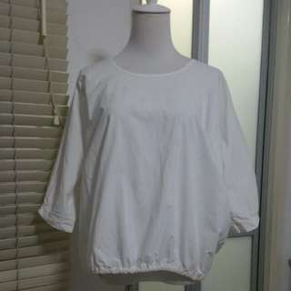 White Oversized Blouse