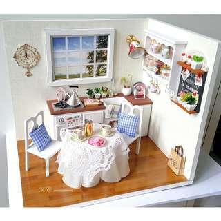 DIY小屋成品-溫馨廚房小屋