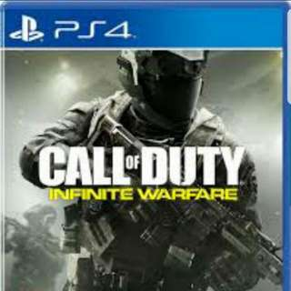 Playstation 4 ps4 games: Call Of Duty Infinite Warfare