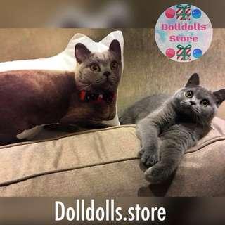 (已訂製過千隻)人形抱枕訂製 紀念日禮物 寵物公仔 人形攬枕 動物Cushion 結婚公仔 卡通咕𠱸 30cm-180cm
