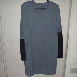 Gray Dress With Chick Design - FREE SHIPPING
