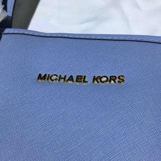 Michael Kors PALE BLUE Top-Zip Tote