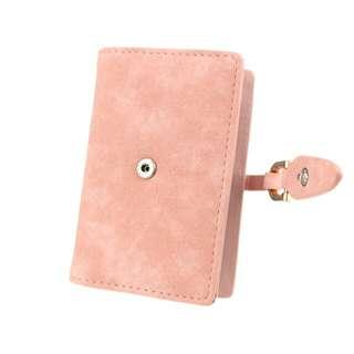 Dompet Kartu Wanita Bahan Nubuck - Rose