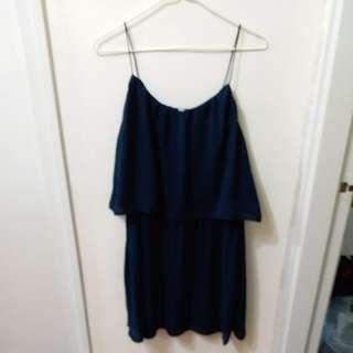藍色連衣裙