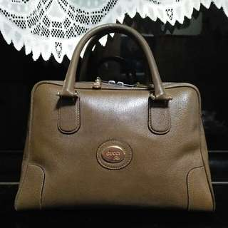 Gucci Plus Brown All Leather Doctor Bag 古董包  手提包
