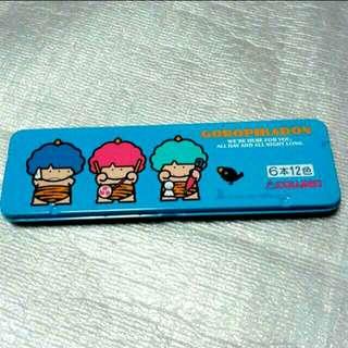 Metal Box (17.8 x 5 x 1 cm) of Colour Pencils