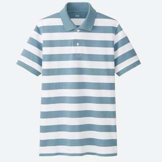 UNIQLO Tshirt Green  Blue Stripe
