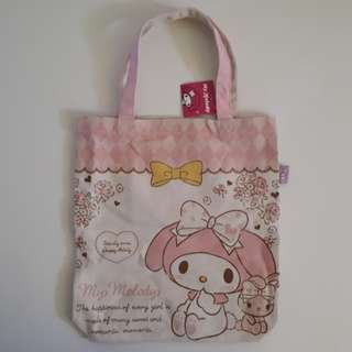 My Melody Happiness Design Canvas Bag Sanrio Authentic (Rabbit)