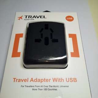 🆕Worldwide Travel Adapter with 4 USB ports