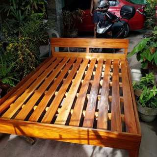 Wooden Mahogany Bed - Double Size P4,000.00 only