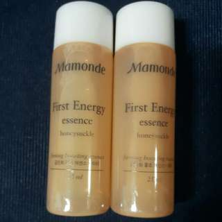New 2x25ml Mamonde First Energy Essence Honeysuckle
