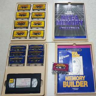 IMPROVE YOUR MEMORY THE WITH SOME VINATAGE COLLECTIBLES 1)Kevin Trudeau's Mega Memory  -8 Cassettes with cassette player (Picture Above) 2)Kevin Trudeau's Advanced Mega Memory  -6 Cassettes With cassette player (Picture Below)