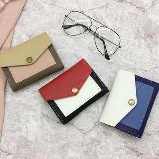 短款撞色錢包卡包零錢包