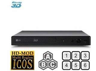 LG Bluray player Multi-Region Decoder