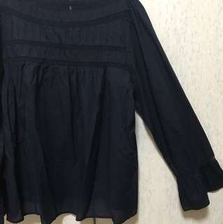 Brand New Uniqlo Navy Blue Blouse XL