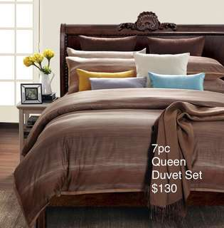 Brand New  100% COTTON 7pc Queen Duvet Set