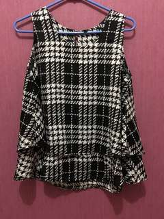Houndstooth top S-L kecil