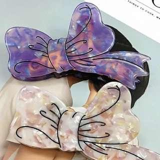 日本 機脂雲石蝴蝶結 髮夾 髮飾