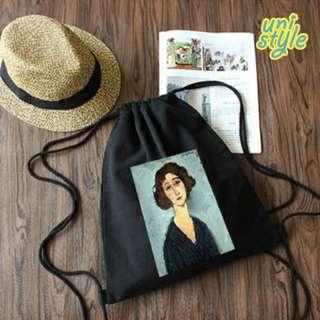 日式小清新帆布袋DIY訂製時尚潮流單肩袋包包生日禮物送女仔帆布包簡約百搭韓版文藝風